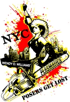PLASMATICS NYC POSERS GET LOST T-SHIRT