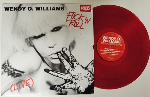 Wendy O. Williams FUCK AND ROLL LIVE!!! Red Vinyl Limited Edition