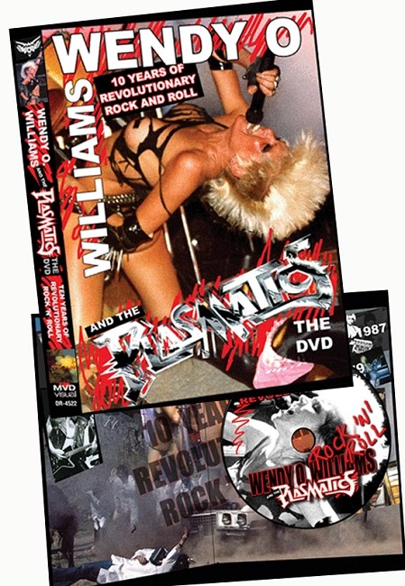 WENDY O. WILLIAMS AND THE PLASMATICS: 10 YEARS OF REVOLUTIONARY ROCK AND ROLL DVD